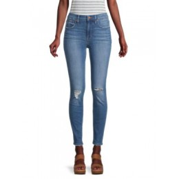 Madewell Pants High-Rise Ripped Ankle Skinny Jeans WILCREST Stretch QKLJNRA