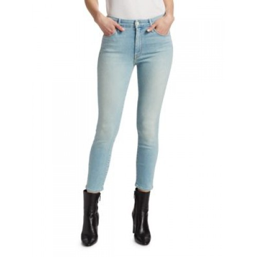 Mother Women Pants The Looker High-Rise Crop Skinny Jeans SWIMMING Size 30 Fashion QTDXISN