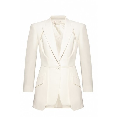 Alexander McQueen Women's Clothing Notch lapel blazer 3 Quarter WGKUBDV