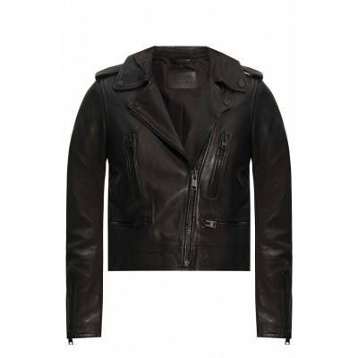 AllSaints 'Lindell' leather jacket Winter Cheap Online OWQETDX