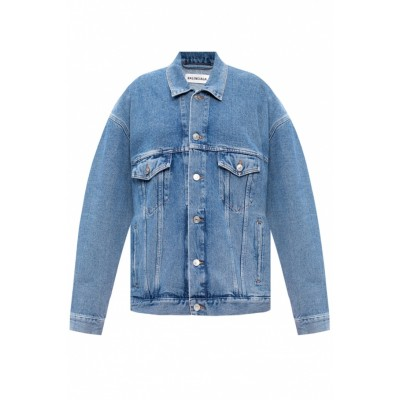 Balenciaga Girl's Washed-out denim jacket Brand Wholesale TACRMVR