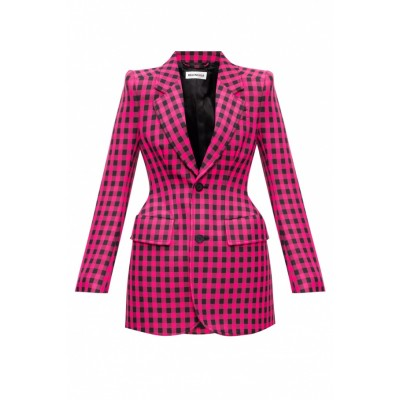 Balenciaga Women Checked blazer 3 Quarter VICXUXE
