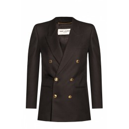 Saint Laurent Women Clothing Double-breasted blazer 3 Quarter High Quality MZVHHSW