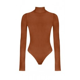 Anna October Women Tops Dnipro Stretch-Jersey Bodysuit Brown Breathable The Best