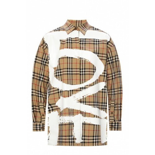 Burberry Women's Outwear Checked shirt Loose Fit For Sale XDXSQDN
