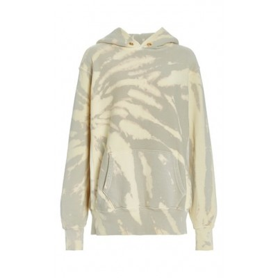 Les Tien Exclusive Cropped Tie-Dyed Cotton Hoodie Blue Base layer Brand