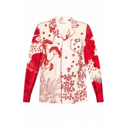 Red Valentino Women Outwear Floral-printed shirt Fitness Brand WOWGXAD