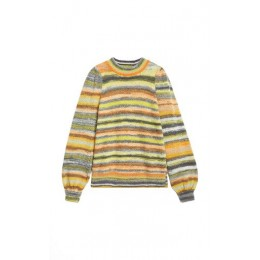 Rodebjer Girl's Ocean Puff-Sleeve Striped Knit Sweater Multi Blouses for Work