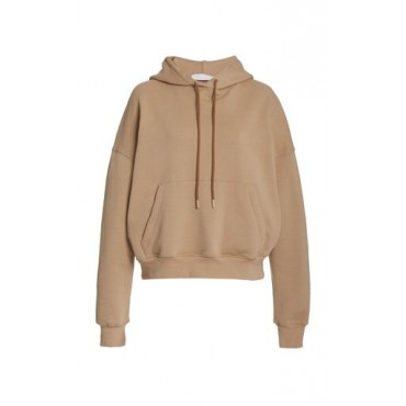 Wardrobe NYC Women's Clothing Oversized Cropped Cotton Hoodie Neutral Sale Online