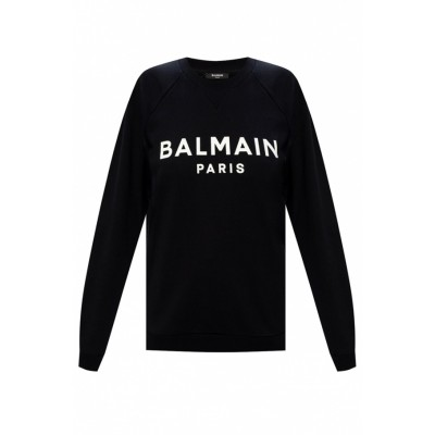 Balmain Women Sweatshirt with logo Lightweight Classic Fit YAEUWYD