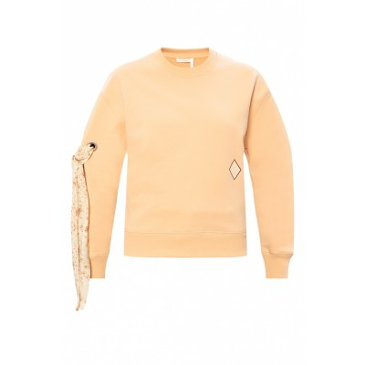 Chloé Sweatshirt with decorative ties Fashion TKXCRTA