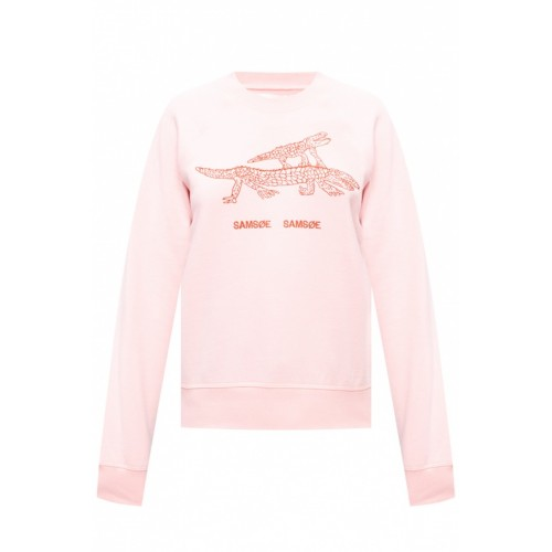 Samsøe Samsøe Women Embroidered sweatshirt Fluffy Designer ILIENRL