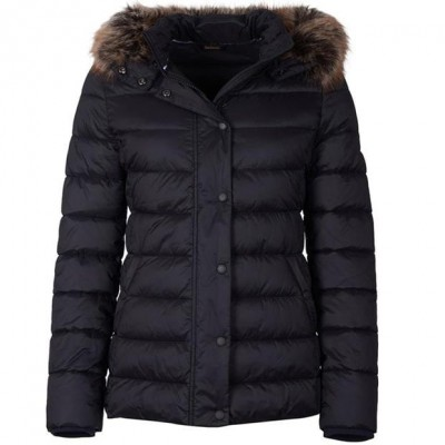 Barbour Girl's Housesteads Quilted Jacket Black Size XS EGEYACV