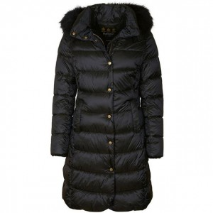 Barbour Women Tops Earn Quilted Jacket Dk Navy Winter High End KMLINYA
