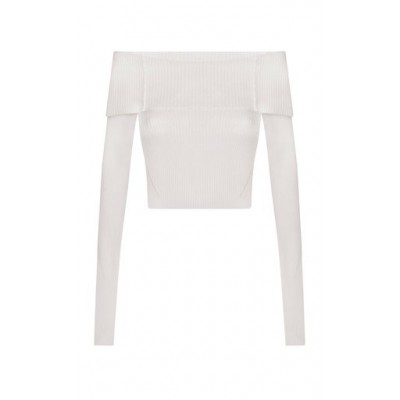 Anna October Women's Tops Anechka Off-The-Shoulder Knit Top White