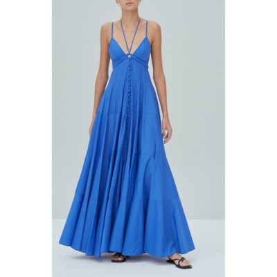 Alexis Girl's Sabelle Tiered Maxi Dress Blue