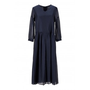 'S Max Mara Tops Silk and cotton voile dress Bridesmaid Best SC436610