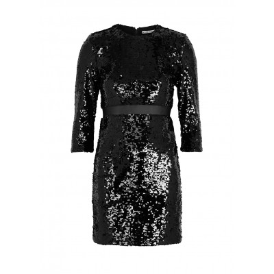 Alice + Olivia Girl's Outwear Rosalia black sequin mini dress Online Shopping SC423924