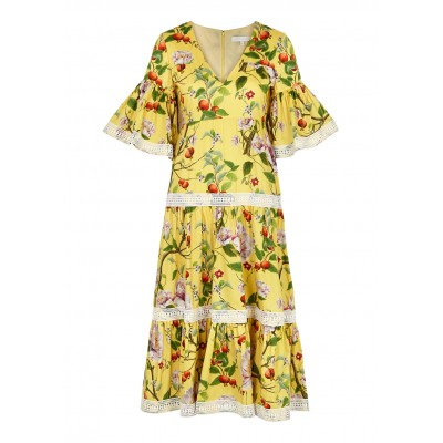 Borgo de Nor Women's Malia floral-print cotton midi dress The Best SC434022
