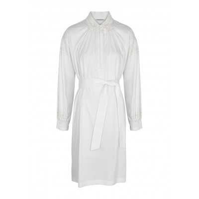 Dries Van Noten Women Tops Darcy white embellished cotton midi dress Brand SC428074