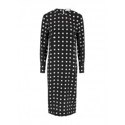 Equipment Nadeleine polka-dot silk midi dress Christmas SC432957