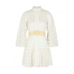 Zimmermann Clothing Empire belted guipure lace mini dress New Look SC402228