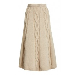 Brock Collection Women Clothing Redden Cashmere Skirt Neutral Basic Classic Fit