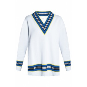 Burberry Girl's Tops Ribbed sweater with logo XRPLOPX
