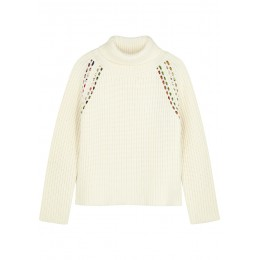 La Prestic Ouiston Hemingway off-white ribbed wool jumper High Quality SC422557