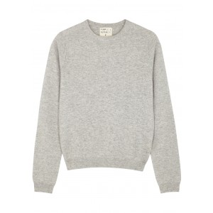 People's Republic of Cashmere Light grey mélange cashmere jumper Premium SC421692