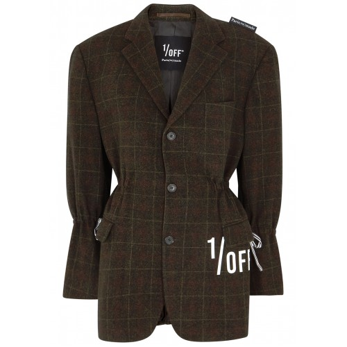 1/OFF Paris Women's Checked wool and cashmere-blend blazer Holiday SC426298