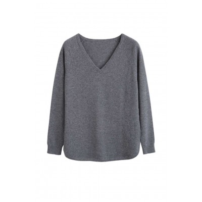 Chinti & Parker Clothing Grey cashmere v-neck sweater Cheap Online SC361518