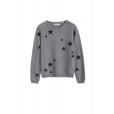 Chinti & Parker Women's Clothing Grey star cashmere sweater SC384472