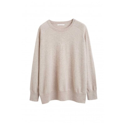 Chinti & Parker Women's Oatmeal cashmere slouchy sweater Under $100 SC359030