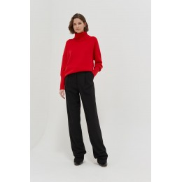 Chinti & Parker Women's Red cashmere rollneck sweater SC352385