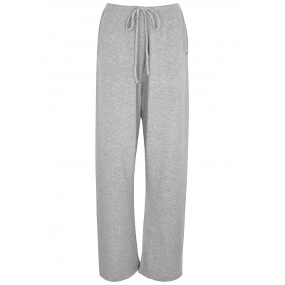 extreme cashmere Women's N°142 Run grey cashmere-blend trousers SC432302