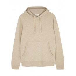 People's Republic of Cashmere Women Cream hooded cashmere jumper Holiday Wholesale SC419199
