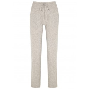 People's Republic of Cashmere Women Light grey mélange cashmere sweatpants Classic Fit SC421696