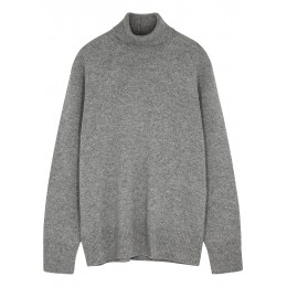 THE ROW Girl's Tops Stepny grey roll-neck wool-blend jumper Good Quality SC435868
