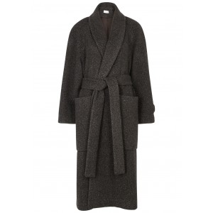 THE ROW Tops Fiera brown striped cashmere coat Brand SC419605