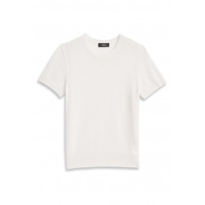 Theory Women's Basic tee in feather cashmere Plus Size High Quality SC425530