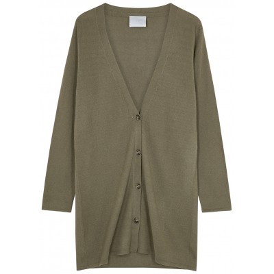 Villao Army green cashmere cardigan For Sale SC412813