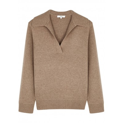 Vince Tops Brown wool and cashmere-blend jumper SC420228