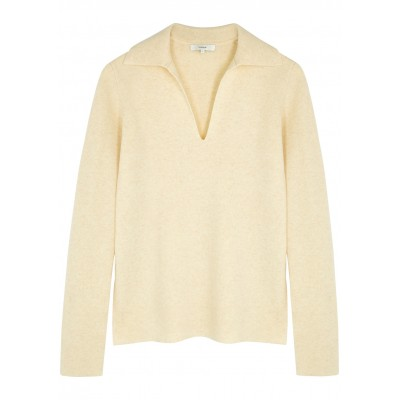 Vince Women's Tops Oatmeal wool and cashmere-blend jumper SC437786