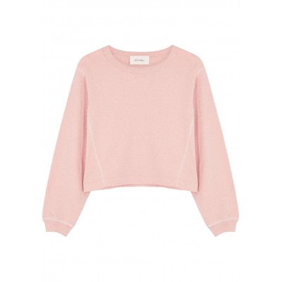 American Vintage Women's Tops Lifboo pink cropped cotton-blend top Brand SC436905