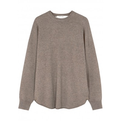 extreme cashmere Women's N°53 Crew Hop taupe cashmere-blend jumper Christmas Brand SC414829