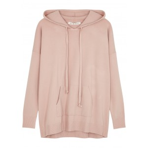 Live The Process Women's Pink hooded stretch-jersey jumper Christmas Boutique SC403654