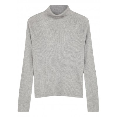 People's Republic of Cashmere Tops Light grey roll-neck silk-blend jumper Christmas Trends SC421700