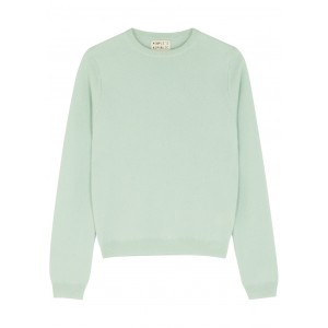 People's Republic of Cashmere Women's Light green cashmere jumper Casual SC425119