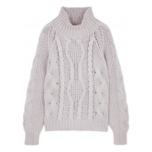 Villao Women's Clothing Ivory chunky-knit wool-blend jumper Casual SC416302